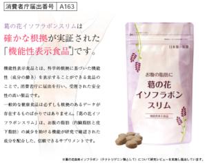 13.お腹の脂肪に葛の花イソフラボンスリム
