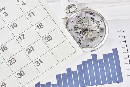 Pocket watch with calendar.