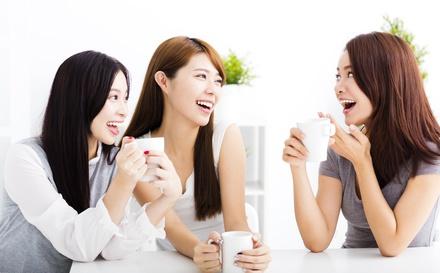 若い女性の会話