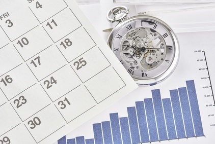 Pocket watch with calendar.